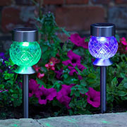 Smart Solar Colour Changing Orbis Glass Stake Light