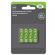 Smart Solar Rechargeable Battery 4 Pack - 2/3 AA 200mAh