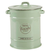 Pride of Place Old Green Biscuit Jar