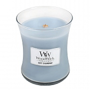Woodwick Soft Chambray Medium Candle