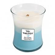 Woodwick Fresh & Clean Trilogy Medium Candle