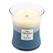 Woodwick Beachfront Cottage Trilogy Medium Candle