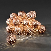 20 Copper Metal Balls Warm White Light Set