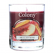 Mulled Wine Scented Votive Candle in Holder