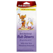 Bob Martin Anti-Bacterial Rub Downs For Grubby Pets 15 wipes