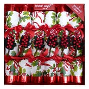 "Robin Reed Winter Berry 12"" Christmas Crackers Pack of 6"