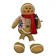 Gisela Graham Fabric Gingerbread Man Shelf Sitter Ornament Large