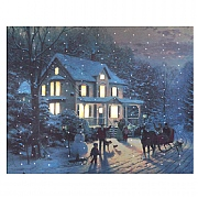 Home For The Holidays LED Canvas