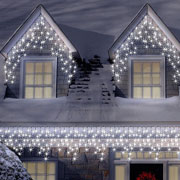 100 Ice White LED Icicle Connectable Lights