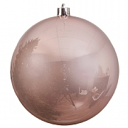 Blush Pink Shiny Shatterproof Bauble - 14cm