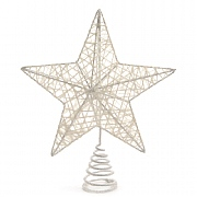 White Iron Tree Topper - 23cm