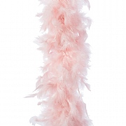 Decoris Blush Pink Feather Boa Garland