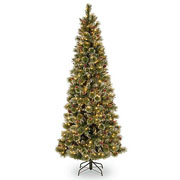6ft Pre-Lit Glittery Bristle Pine Artificial Christmas Tree