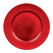 Red Glitter Charger Plate 33cm