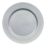 Silver Glitter Charger Plate 33cm