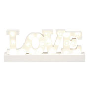 Wooden Lit Love Sign
