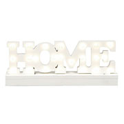 Wooden Lit Home Sign