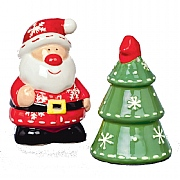 Santa & Tree Salt & Pepper Shaker Set 6cm
