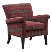 Balmoral Claret Red Tartan Accent Chair