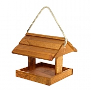 Tom Chambers Hebble Wood Roof Hanging Bird Table