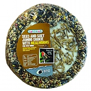 Seed and Suet Jumbo Cookie with Mealworms