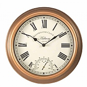 Outside In Astbury Wall Clock & Thermometer 12''