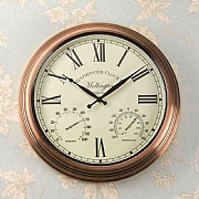 Outside In Mollington Wall Clock & Thermometer
