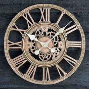 Outside In Newby Mechanical Wall Clock Bronze