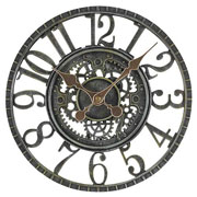 Newby Mechanical Wall Clock Verdigris