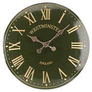"Outside In Westminster Tower Wall Clock 12"" Green"