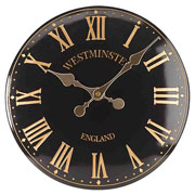 "Westminster Tower Wall Clock 12"" Black"
