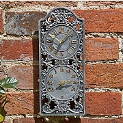 Outside In Westminster Wall Clock & Thermometer