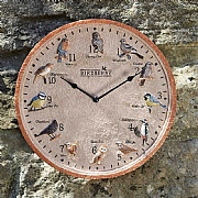Outside In Birdberry Wall Clock 12''