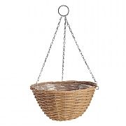 Natural Rattan Effect Hanging Basket 35cm
