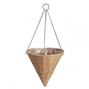 Natural Rattan Effect Hanging Cone 35cm