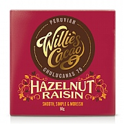 Willie's Cacao Hazelnut & Raisin Peruvian Chocolate 50g