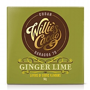 Willie's Cacao Ginger & Lime Dark Chocolate 50g