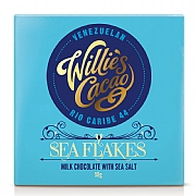 Willie's Cacao Sea Flakes Milk Chocolate 50g