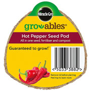Miracle Gro Gro-ables Hot Pepper Seed Pod