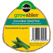 Miracle Gro Gro-ables Cucumber Seed Pod