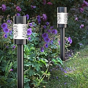 Smart Solar Martello Brushed Nickel Stake Light