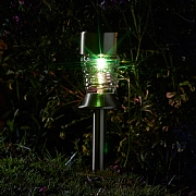 Smart Solar Crystal Wave Stainless Steel Stake Light