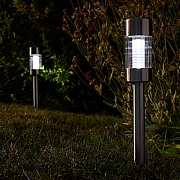 Smart Solar Flare Stainless Steel Stake Light