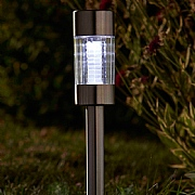 Smart Solar Flare Stainless Steel Solar Stake Light - 5 Pack