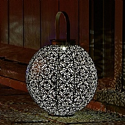 Smart Solar Damasque Silhouette Lantern - Bronze