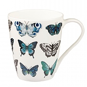 Churchill China Harlequin Aspen Papilio Indigo China Mug