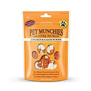 Pet Munchies Natural Chkn & Calcium Bones 100g
