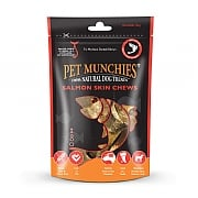 Pet Munchies Natural Salmon Skin Chews Medium 90g