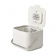 Joseph Joseph Stack 4 Food Waste Caddy With Odour Filter Stone