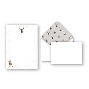 Wrendale 'Wild At Heart' Stag Letter Writing Set